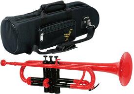 ZEFF ( ゼフ ) 調整品 ZPT-01 RED/BLK トランペット 新品 アウトレット プラスチック製 レッド 管楽器 B♭ 本体 赤色 プラスチックトランペット trumpet
