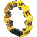 イエロー 花型 タンバリン 23cm プラスチック製 ダブルジングル パーカッション プラスチックタンバリン 黄色 yellow …