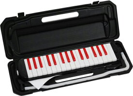 KC ( キョーリツコーポレーション ) P3001-32K BK/RD ブラック レッド 32鍵 鍵盤ハーモニカ メロディーピアノ 立奏用唄口 卓奏用パイプ ケース Melody Piano black red 一部送料追加 北海道/離島/沖縄は送料実費