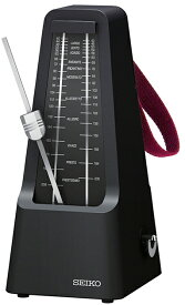 SEIKO ( セイコー ) SPM400 ブラック(B) 振り子メトロノーム 持ちはこび 持ち手付き おもり 据置き式 振り子タイプ メトロノーム ブラック 黒色 楽器 SPM-400 metronome