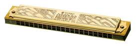 TOMBO ( トンボ ) 【 Cm 】 1921 ゴールド 超特級 複音ハーモニカ 21穴 トレモロハーモニカ No.1921 マイナー 短調 tremolo harmonica 木製ボディ リード 楽器 ハーモニカ