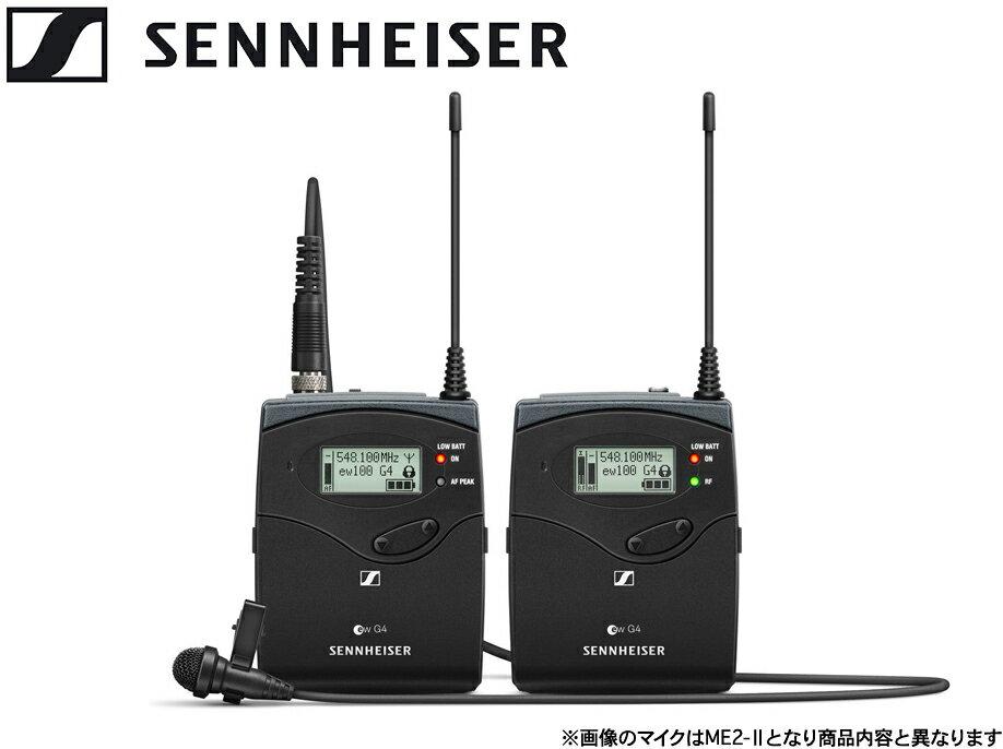 SENNHEISER ( ゼンハイザー ) EW 122P G4-JB ◆ ワイヤレスマイクシステム ポータブル ラベリアマイクセット ( 単一指向性 タイピンマイク ME 4 付属)【EW122PG4-JB】 [ ワイヤレスシステム ][ 送料無料 ]
