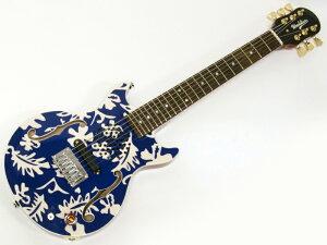 Woodstics Guitars ( ウッドスティック・ギターズ ) WS-MINI ALOHA (BLUE & WHITE)【 アンプ内蔵 ミニギター 】 横山健 プロデュースブランド