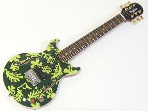 Woodstics Guitars ( ウッドスティック・ギターズ ) WS-MINI ALOHA (DEEP GREEN & GREEN )【横山健 プロデュースブランド アンプ内蔵 ミニギター 】