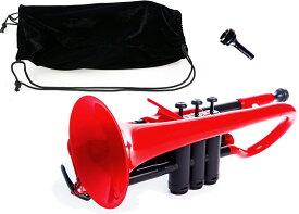 PINSTRUMENTS PCORNET1R レッド コルネット 新品 プラスチック製 B♭管 Pコルネット 管楽器 本体 赤色 Denis Wick マウスピース ケース Cornet red 一部送料追加 送料無料(北海道/沖縄/離島不可)