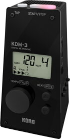 KORG ( コルグ ) KDM-3-BK デジタル メトロノーム ブラック 大音量 ボリューム調整可 電子メトロノーム 液晶 テンポを表示 KDM3 黒色 black digital metronome