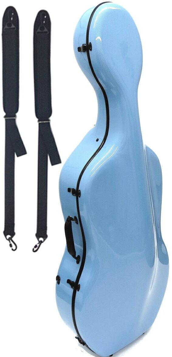 Carbon Mac ( カーボンマック ) CFC-3 チェロケース 水色 PBL チェロ用 ハードケース 4/4サイズ リュックタイプ カーボンファイバー製 cello cases ペールブルー 一部送料追加 送料無料(北海道/沖縄/離島/代引き/同梱不可)