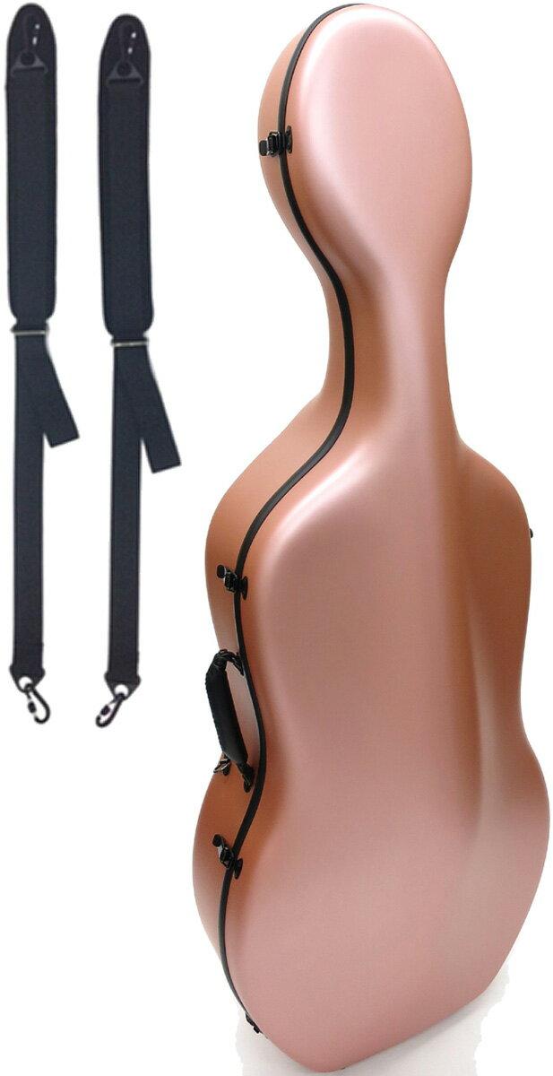 Carbon Mac ( カーボンマック ) CFC-2S サテン ピンクゴールド チェロケース S-PKG チェロ用 ハードケース 4/4サイズ リュックタイプ cello cases satin pink gold 一部送料追加 送料無料(北海道/沖縄/離島/代引き/同梱不可)