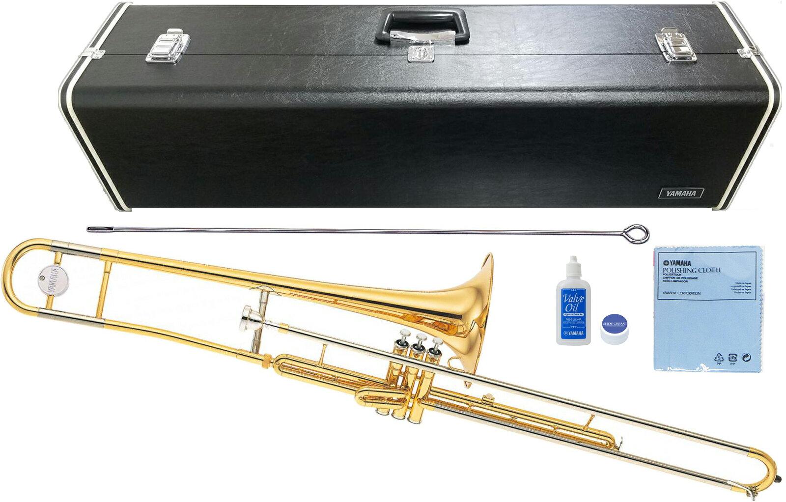YAMAHA ( ヤマハ ) YSL-354V ピストン式 バルブトロンボーン ゴールド 新品 トロンボーン B♭管 細管 楽器 本体 マーチング 日本製 管楽器 送料無料