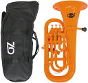 ZO ( ゼットオー ) ユーフォニアム EU-11 オレンジ 調整品 新品 アウトレット 4ピストン プラスチック B♭ 本体 管楽…