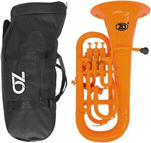 ZO ( ゼットオー ) 【予約】 ユーフォニアム EU-11 オレンジ 調整品 新品 アウトレット 4ピストン プラスチック B♭ 本体 管楽器 orange 楽器 北海道 沖縄 離島不可