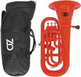 ZO ( ゼットオー ) 【予約】 ユーフォニアム EU-01 レッド 調整品 新品 アウトレット 4ピストン プラスチック製 管楽器 赤色 Euphonium EU01 red 楽器 一部送料追加 送料無料(沖縄/離島/北海道不可)