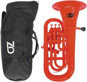 ZO ( ゼットオー ) ユーフォニアム EU-01 レッド 調整品 新品 アウトレット 4ピストン プラスチック 管楽器 赤色 Euphonium red 楽器 北海道 沖縄 離島不可