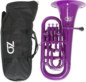 ZO ( ゼットオー ) 【予約】 ユーフォニアム EU-04 パープル 調整品 新品 アウトレット 4ピストン プラスチック B♭ 管楽器 樹脂製 紫色 purple 北海道 沖縄 離島不可