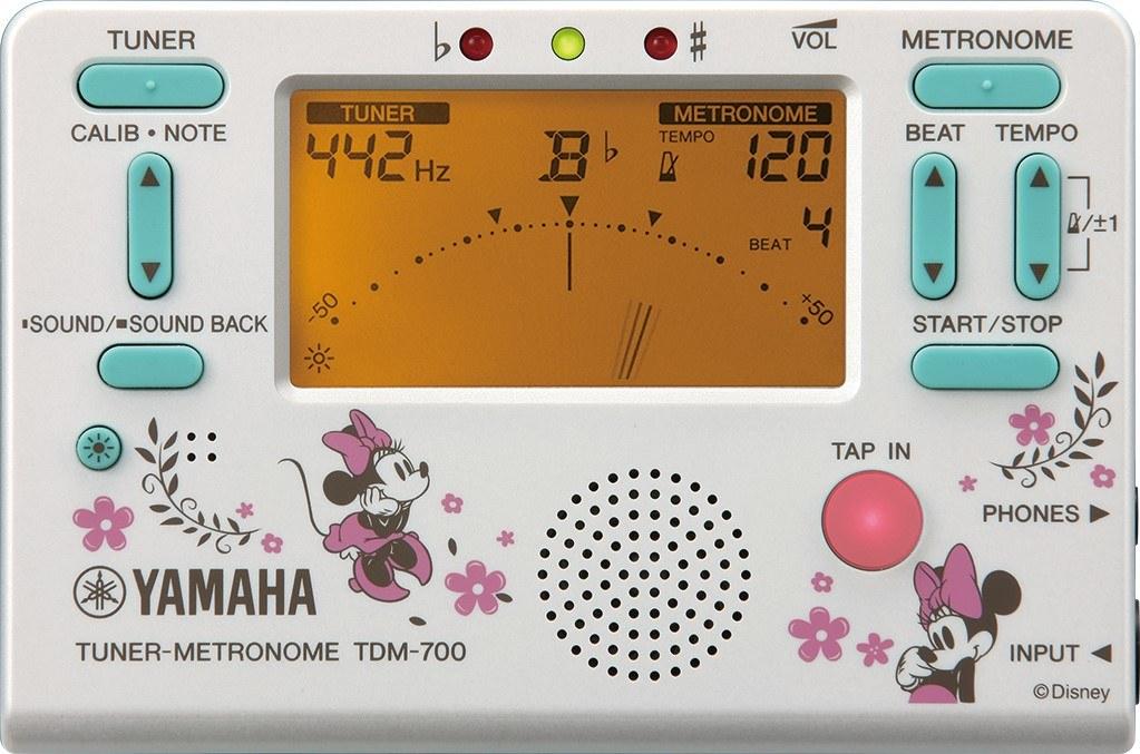 YAMAHA ( ヤマハ ) TDM-700DMN4 ディズニー チューナーメトロノーム ミニーマウス ラメ入りホワイト 管楽器 クロマチックチューナー metronome tuner Disney 北海道/沖縄/離島/同梱不可=送料実費請求