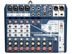 SOUND CRAFT ( サウンドクラフト ) Notepad 12FX ◆ 12ch小型ミキサー エフェクター搭載 PCとUSB接続でオーディオインターフェースとしても使用できます [ 送料無料 ]
