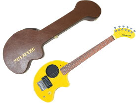 FERNANDES ( フェルナンデス ) ZO-3 (YELLOW)+FIT-ZO (BROWN) ハードケースセット ミニギター 黄色 茶色