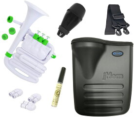 NUVO ( ヌーボ ) jHORN N610JHWGN ホワイト グリーン Jホーン プラスチック製 管楽器 ホルン アルトホルン ジェイホーン J HORN white green WH GN ミュート セット