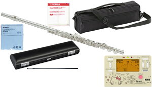 YAMAHA ( ヤマハ ) YFL-212 フルート 正規品 Eメカニズム 銀メッキ カバードキイ オフセット 管楽器 C管 flute セット TM-60-SKT キティ  北海道 沖縄 離島不可