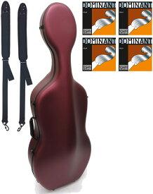 Carbon Mac ( カーボンマック ) CFC-2S サテン ワインレッド S-WRD チェロケース 4/4 cello hard cases Dominant satin wine red セット 北海道 沖縄 離島 同梱不可