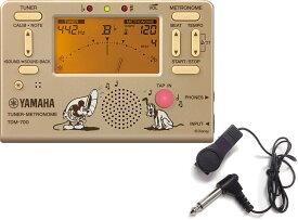 【メール便出荷品】 YAMAHA ( ヤマハ ) TDM-700DMK ミッキーマウス ゴールド チューナーメトロノーム ディズニー クロマチックチューナー マイク セット 北海道不可 沖縄不可 離島不可