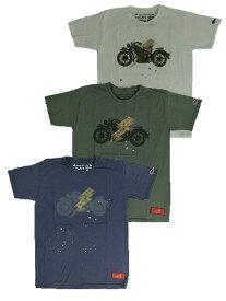 【SALE】INDIAN MOTORCYCLE インディアンモーターサイクル Diamond Head コラボ 限定プリントTシャツ ホワイト ネイビー カーキ