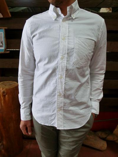 MANUAL ALPHABET マニュアルアルファベット MK-003ベーシックシリーズ  オックス素材 ボタンダウンシャツ WHITE ホワイトシャツ MADE IN JAPAN
