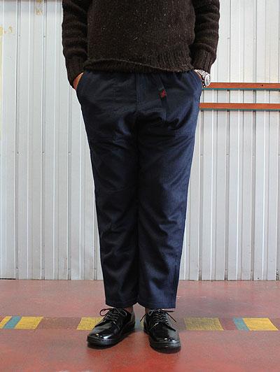 GRAMICCI (グラミチ) WOOL LOOSE TAPERED PANTS GUP022 ウールルーズテーパードパンツ Double Navy