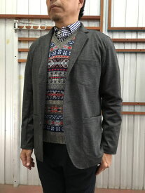 FOB FACTORY FOBファクトリー FOB F2390 DEPARTURE JACKET デパーチャージャケット 4WAYストレッチ素材 Charcoal グレンチェック 送料無料 日本製 倉敷児島