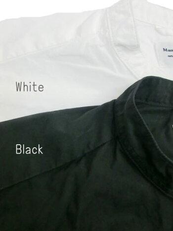 マニュアルアルファベットルーズフィットバンドカラーシャツ