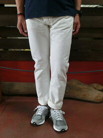ORSLOW orSlow オアスロウ 01-0107W-69 Mens IVY FIT JEANS ONE WASH アイビーフィットジーンズ ホワイトデニム Made in Japan 日本製 送料無料