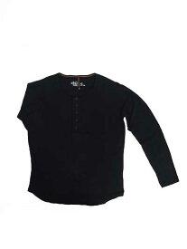 Nudie Jeans(ヌーディージーンズ)【SALE】 35161-4005 ORGANIC LS HENLEY T-SHIRT 長袖ヘンリーネックT ブラック