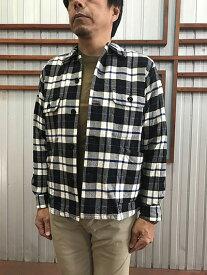 STUDIO ORIBE DELICIOUS(デリシャス)【SALE】JAMES&CO JS201-183 フランネルオープンカラーシャツ ネイビーチェック柄 送料無料