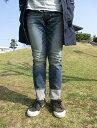 ETERNA Lエターナル  52095 テーパードデニムパンツ ストレッチ素材 ライトインディゴ 日本が誇る加工デニム【送料無料】【あす…