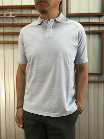 【SALE】Arbre アルブル CANDIDUM C181572 コットン半袖ポロシャツ 日本製 Sax サックス 水色 あす楽対応