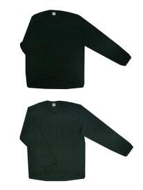【SALE】gicipi(ジチピ) コットン カシミア クルーネック長袖カットソー Nero Forest イタリア製 【あす楽対応】