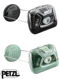 PETZL ペツル ZIPKA ジプカ コンパクトヘッドランプ 巻き取りリール式クラシックヘッドランプ グリーン ブラック