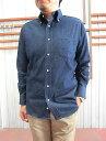 【SALE】INDIVIDUALIZED SHIRTS USA製 Vintage Denim スタンダードフィットボタンダウンシャツ  Blue【送料無料】【あす楽対応】
