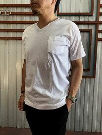 gicipi GICIPI ジチピ GIRO COLLO V+TAS M/M ジャージー素材ポケット付き VネックTシャツ Bianco  BlueNavy ホワイト ネイビー 【あす楽対応】