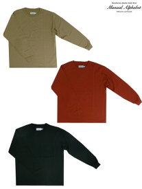 MANUAL ALPHABET マニュアルアルファベットロングスリーブTシャツ Black Orange Beige ブラック オレンジ ベージュ 日本製