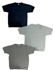 FRUIT OF THE LOOM フルーツオブザルーム リブ付き半袖Tシャツヘビーウェイト半袖Tシャツ スウェットのような仕上がり Navy White Gray ネイビー ホワイト グレー