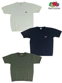 FRUIT OF THE LOOM (フルーツオブザルーム) gaku別注ワッペン付きリブ半袖Tシャツ ヘビーウェイト半袖Tシャツ  White Navy Gray ホワイト ネイビー グレー