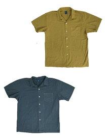 【SALE】GOOD ON(グッドオン) S/S OPEN TEE SHIRTS 半袖オープンTシャツ アメリカコットン100%Tシャツ生地 半袖オープンシャツ SMOKY BLUE  OLD GOLD スモーキーブルー オールドゴールド