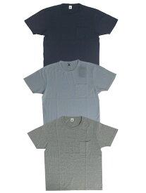 FRUIT OF THE LOOM フルーツオブザルーム 無地ポケットつきTシャツ コスパが魅力 アメリカ製コットンWhite Gray Navy ホワイト グレー ネイビー