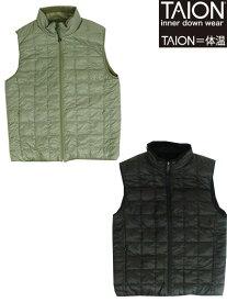 TAION(体温) R002MB ダウン ボア リバーシブルダウンベスト Khaki Black カーキ ブラック