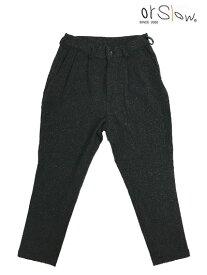 orslow ORSLOW オアスロウ 01-5560-60 メンズ Billy Jean ビリージーンメリノウールパンツ チャコールグレー