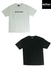 【SALE】WILD THINGS(ワイルドシングス)WT19014N EMBROIDERY LOGO ショートスリーブTシャツ Black White あす楽対応