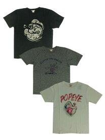 【SALE】SCREEN STARS JAPAN スクリーンスターズ POPEYE ポパイプリントTシャツ丸胴ボディー ブラック グレー ホワイト