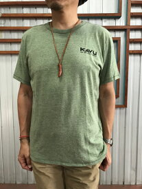 【SALE】KAVU カブー You Are Here T ユーアーヒア Tシャツ Pine グリーン