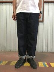 FOB FACTORY FOBファクトリー F0508 Denim Track Pants デニムトラックパンツ ワイドデニム スリーエイトデニム  ワンウオッシュ 動画あり